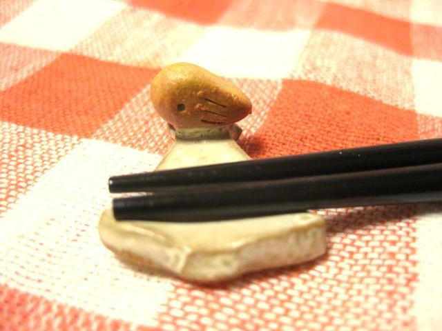 小鳥のいるツリー箸置き(白)