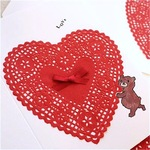 LOVE CARD - HEART LACE & BEAR-